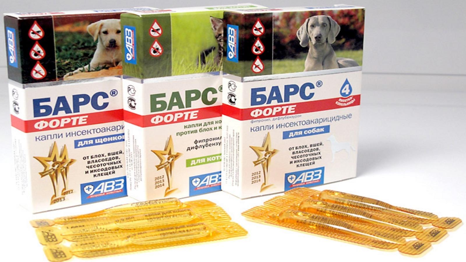 Капли Барс от блох и клещей для собак: назначение, инструкция по применению, состав препарата